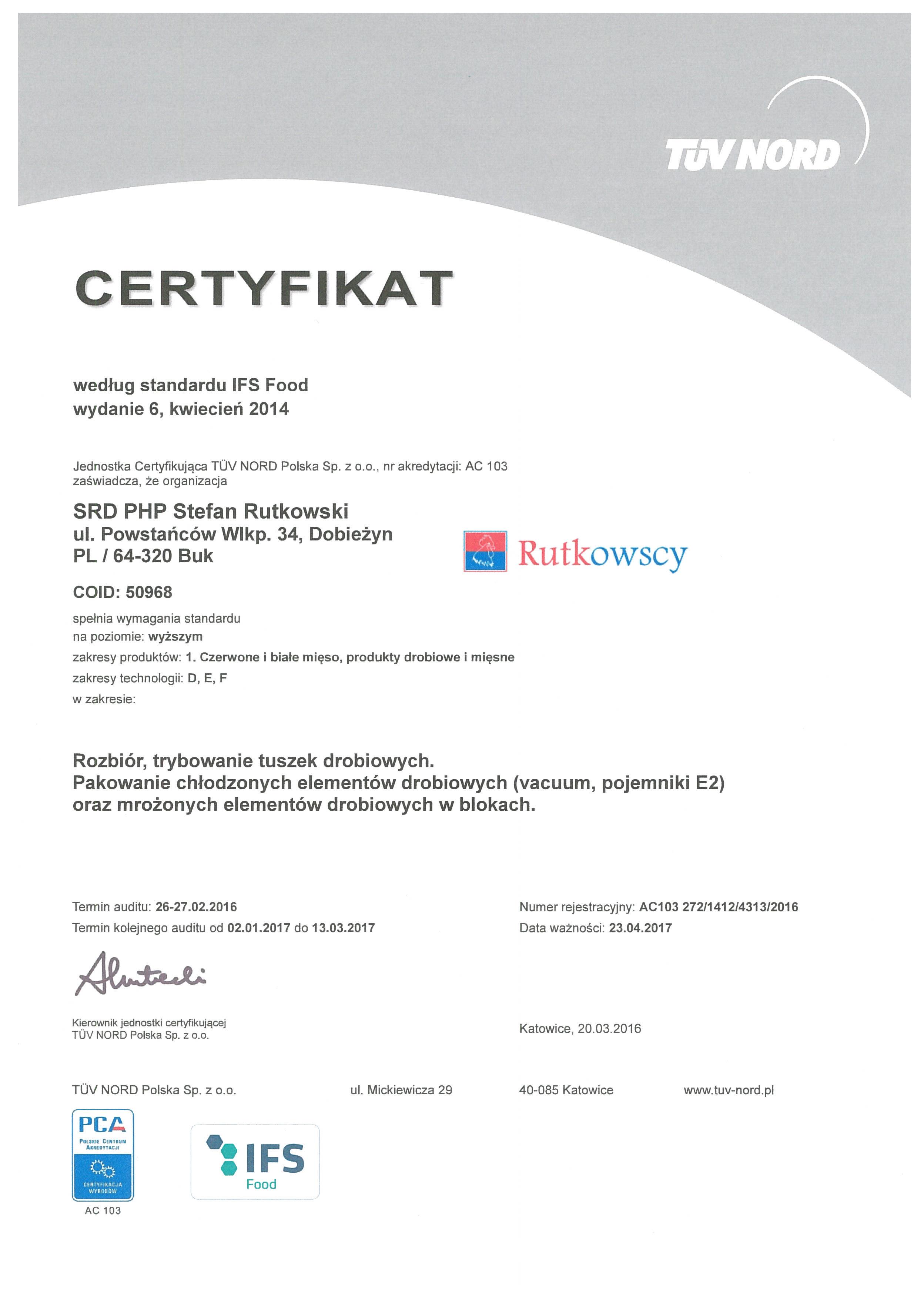SRD PHP IFS 2016 (1) certyfitat pol