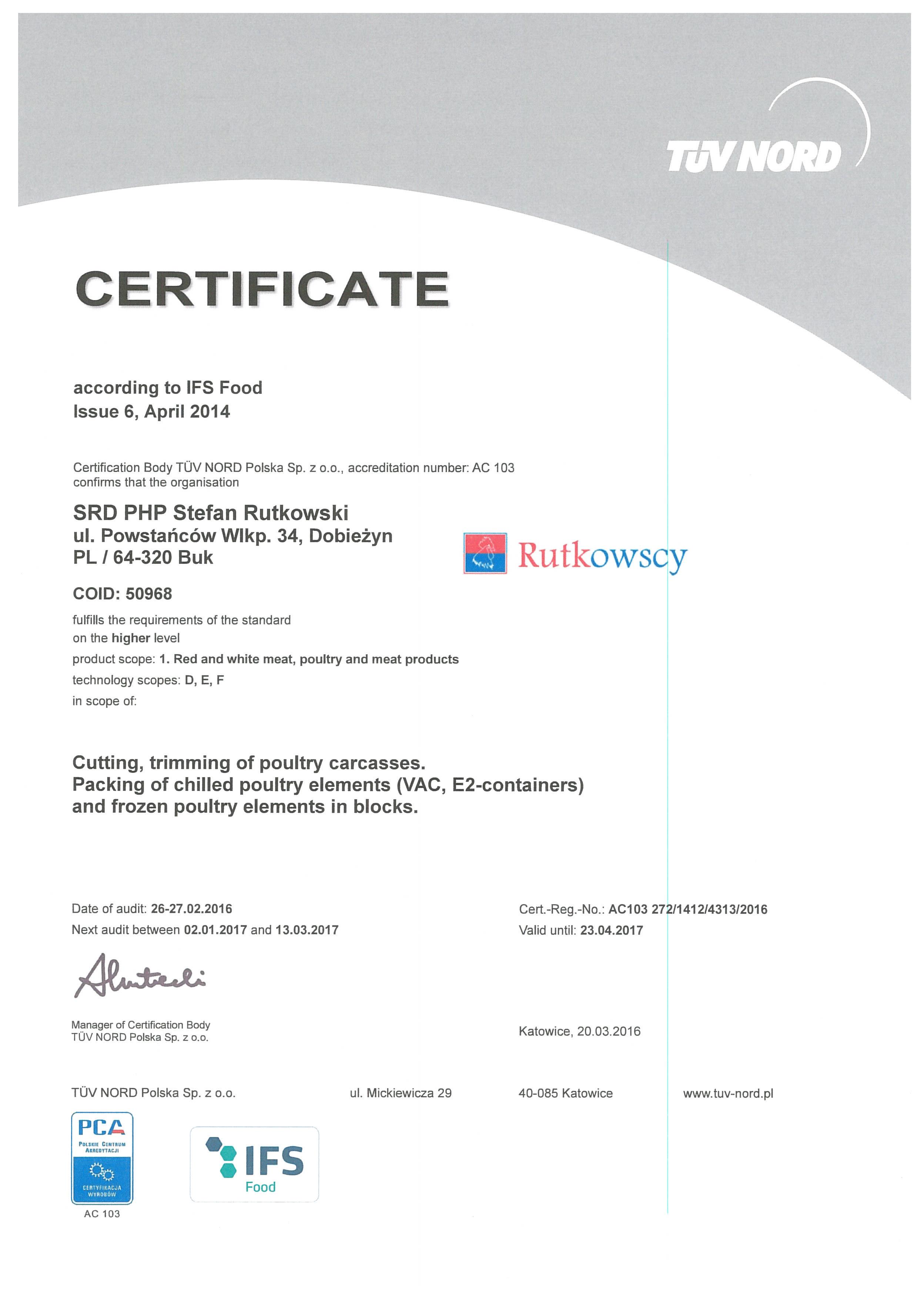 SRD PHP IFS 2016 (3) certyfikat angl
